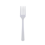 20 Forks Clear Plastic 15.7 cm