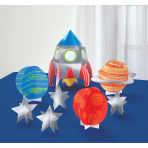 Table Decoration Kit Blast Off Paper 8 Pieces 29.2 cm / 2.5 - 15.2 cm