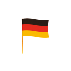 Flag Germany With Rod Fabric 70 x 90 cm