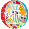 """Orbz """"Fun in the Sun Cute Characters"""" Foil Balloon Clear, G20, packed, 38 x 40cm"""