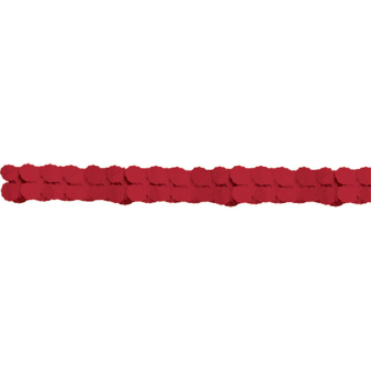 Garland Apple Red Paper 365 cm