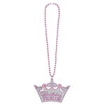 Bling Necklace Birthday Princess Plastic 64.7 cm