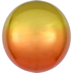 Ombré Orbz Yellow & Orange Foil Balloon G20 packaged