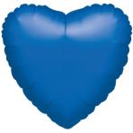 "Standard ""Metallic Blue"" Foil Balloon Heart, S15, packed, 43cm"