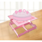 Cake Decorating Kit Christening Booties - Pink
