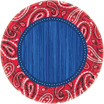 8 Plates Bandana & Blue Jeans 17.7 cm
