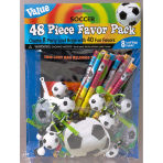 Favour Set Championship Soccer Plastic / Paper 48 Pieces