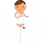 "Mini Shape ""Lovely Bride"" Foil Balloon, A30, airfilled, 15 x 33 cm"