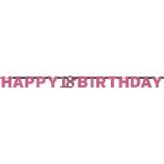 Letter Banner 18 Sparkling Celebration Pink Foil 213 x 16.2 cm