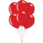 "10 Latex Balloons Metallic Red 27.5 cm / 11"""