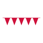 Pennant Banner Apple Red Plastic 1000 x 32 cm