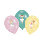 6 Latex Balloons Little Dancer 27.5 cm / 11""