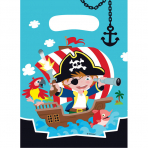 8 Party Bags Pirate Plastic 23.4 x 16.2 cm
