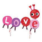 Multi Balloon Love Bug Foil Balloon P70 Packaged 139 x 106 cm