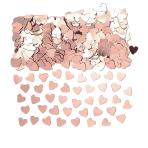 Confetti Hearts Rose Gold Foil 14 g