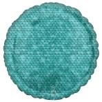 Standard Ocean Blue Sequins Foil Balloon S18 Packaged