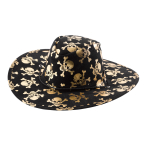 Cowboy Hat Skull Fabric One Size