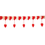 Heartshaped Garland Lovely Moments 20/50 x 400 cm