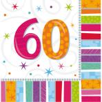 16 Napkins Radiant Birthday 60 33 x 33 cm