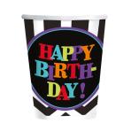 8 Cups Chevron Birthday 266 ml