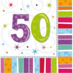 16 Napkins Radiant Birthday 50 33 x 33 cm