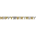 Letter Banner 50 Sparkling Celebration Gold Foil 213 x 16.2 cm