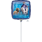 "9'' ""Star Wars The Last Jedi"" Foil Balloon Square, A20, airfilled, 23cm"