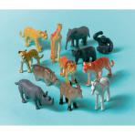 12 Toy Jungle Animals Plastic
