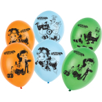 "6 Latex Balloons Rusty Rivets 4-Sided Print 11""/28cm"