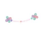 Decoration Kit Happy Birthday Pastel