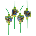 8 Drinking Straws Teenage Mutant Ninja Turtles