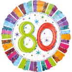 Standard Radiant Birthday 80 Foil Balloon S55 Packaged