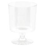 40 Tiny Pedestal Glasses Plastic Clear 59 ml