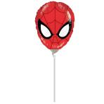 Mini Shape Ultimate Spider-ManHead Foil Balloon A30 Bulk
