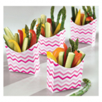 24 Snack Containers Paper     Minis pink 9,5 x 3,3 x 9,5cm