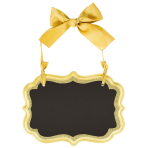 Chalkboard Sign Gold MDF 13.9 x 10.1 cm