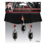 Costume Accessory Velvet Choker & Earrings One Size
