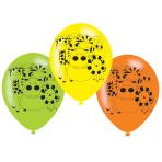 "6 Latex Balloons Jungle Animals 22.8 cm / 9"""
