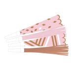8 Horns Rose Gold Birthday    Paper / Plastic Length 22,5 cm