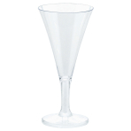 20 Mini Champaign Glasses Plastic Clear 59 ml