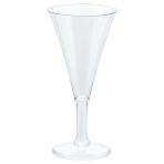 20 Mini Bubbly Wine Glasses Plastic Clear 59 ml