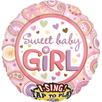 Sing-A-Tune Sweet Baby Girl Foil Balloon P60 Packaged
