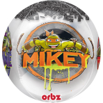 "Orbz ""TMNT"" Foil Balloon Clear, G40, packed, 38 x 40 cm"