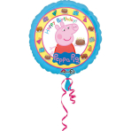 """Standard """"Peppa Pig Happy Birthday"""" Foil Balloon round S60 packed 43cm"""