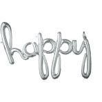 Script Phrase `Happy` Silver