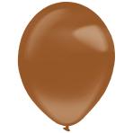 "50 Latex Balloons Decorator Crystal Chocolate Brown 35 cm / 14"""