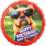 "Jumbo ""Avanti Sweet Birthday"" Foil Balloon  , P38, packed, 71 x 71cm"