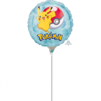 "9'' ""Pokemon"" Foil Balloon Round , A20, airfilled, 23cm"