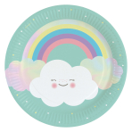 8 Plates Rainbow & Cloud 23cm