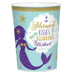Cup Mermaid Wishes Plastic 473 ml